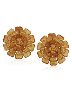 MICHELE DELLA VALLE CITRINE AND YELLOW SAPPHIRE EARRINGS