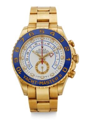 ROLEX, YACHT-MASTER II, 18K YELLOW GOLD, REF 116688