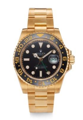 ROLEX, GMT MASTER II, 18K YELLOW GOLD, REF 116718