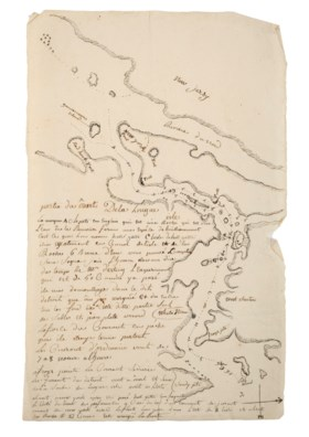 A French intelligence map of New York Harbor