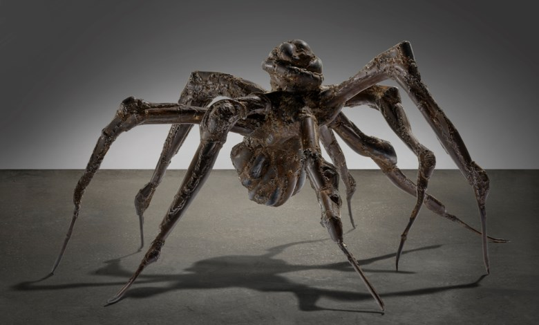 Louise Bourgeois (1911-2010), Spider V, 1999.Steel. 21 x 38 x 44 in (53.3 x 96.5 x 111.8 cm). Sold for $5,550,000 on 11 May 2021 at Christie's in New York