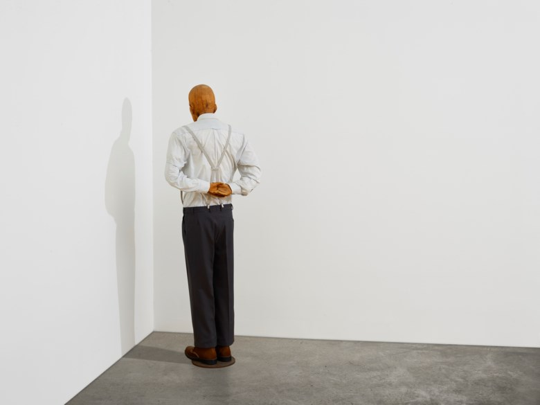 Martin Kippenberger (1953-1997), Martin, ab in die ecke und schäm dich (Martin, Into the Corner, You Should Be Ashamed of Yourself), 1989. Wood, metal, styrofoam, foam rubber and clothing. 70⅜ x 26 x 14⅛ in (178.8 x 66 x 35.9 cm). Estimate $10,000,000-15,000,000. Offered in 21st Century Evening Sale on 11 May 2021 at Christie's in New York