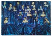 Les débutantes (bleu azur)