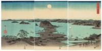 Buyo Kanazawa hassho yakei (Eight night views of Kanazawa, Musashi Province)
