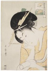 Ogiya Hanaogi (The courtesan Hanaogi of the house Ogiya)