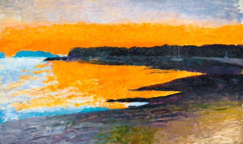 Wolf Kahn (1927-2020), Down East Sunset I, 1997.  Oil on canvas. 43 x 73 in (109.2 x 185.4 cm). Estimate $50,000-70,000. Offered in Fields of Vision The Private Collection of Artists Wolf Kahn and Emily Mason on 18 May at Christie's in New York