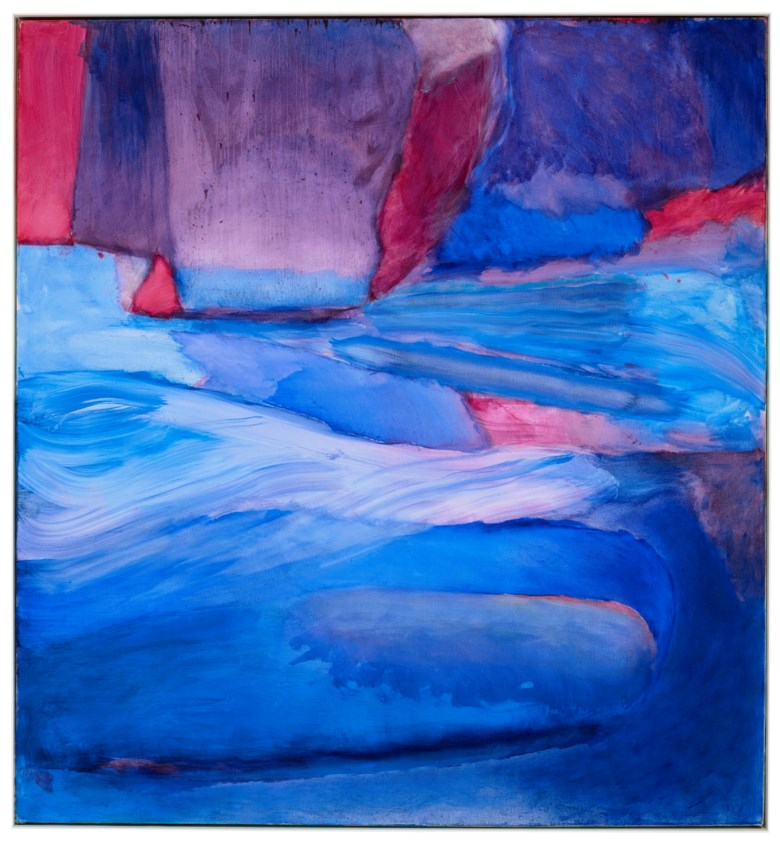 Emily Mason (1932-2019), Aquifer, 2010. Oil on canvas. 56 x 52 in (142.2 x 132.1 cm). Estimate $10,000-15,000. Offered in Fields of Vision The Private Collection of Artists Wolf Kahn and Emily Mason on 18 May at Christie's in New York