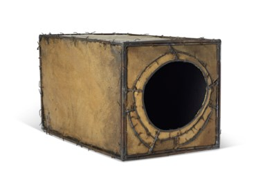 Lee Bontecou (b. 1931), Untitled, 1959. Welded steel, canvas and wire. 7 x 11½ x 7¼ in (17.8 x 29.2 x 18.4 cm). Estimate $120,000-180,000. Offered in Fields of Vision The Private Collection of Artists Wolf Kahn and Emily Mason on 18 May at Christie's in New York