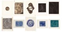 A Portfolio of Twelve Monoprinted Wood Engravings