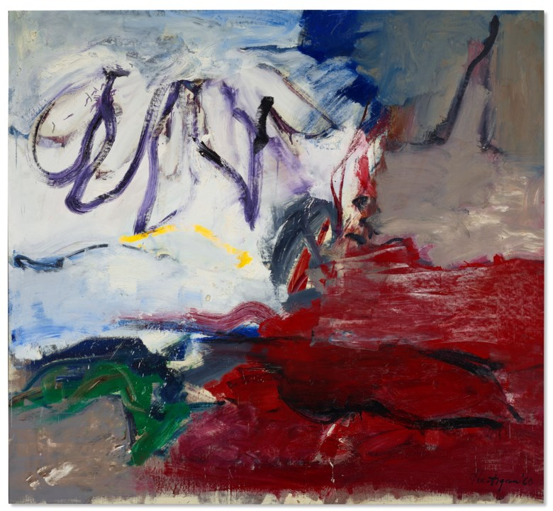 Grace Hartigan (1922-2008), The Snow Angel, 1960. Oil on canvas. 69 x 75¼ in (175.2 x 191.1 cm). Price on request. Offered in Grace Hartigan No Ruleson 17 July-8August 2021 at Christie's Southampton