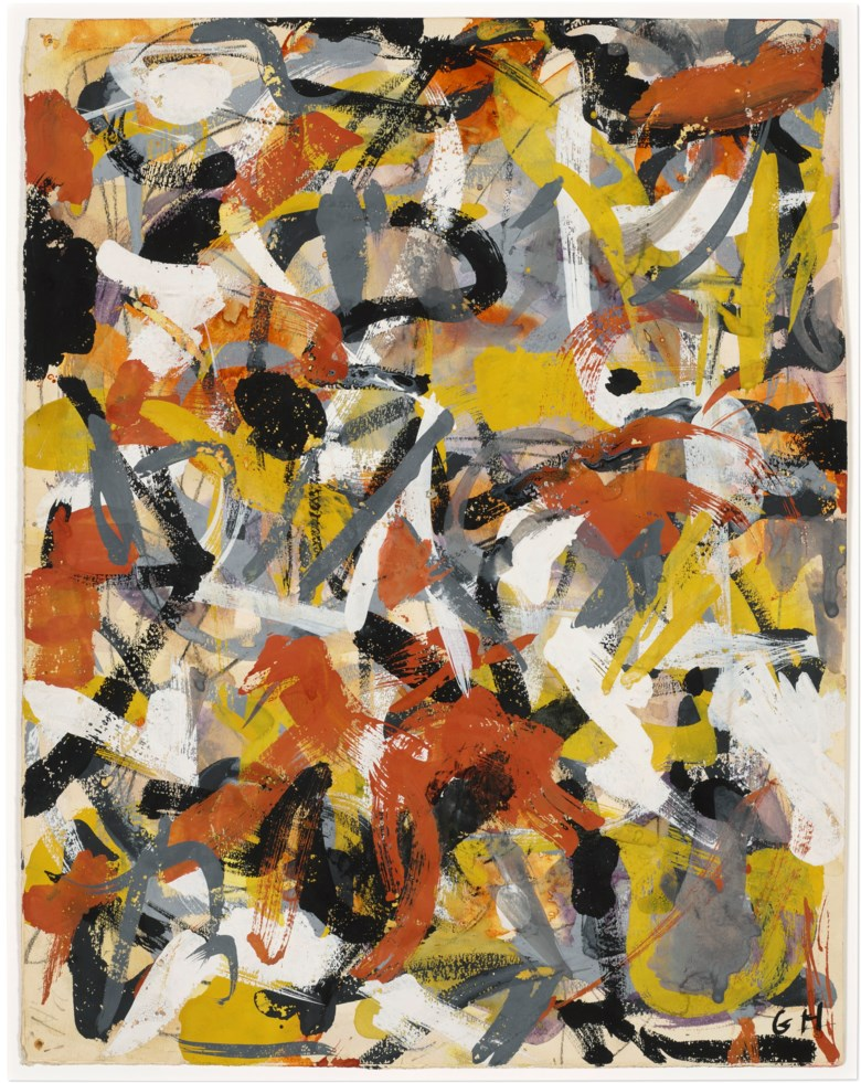 Grace Hartigan (1922-2008), Untitled, 1951. Oil on paper. 14½ x 11⅜ in (36.8 x 28.8 cm). Price on request. Offered in Grace Hartigan No Rules on 17 July-8August 2021 at Christie's Southampton