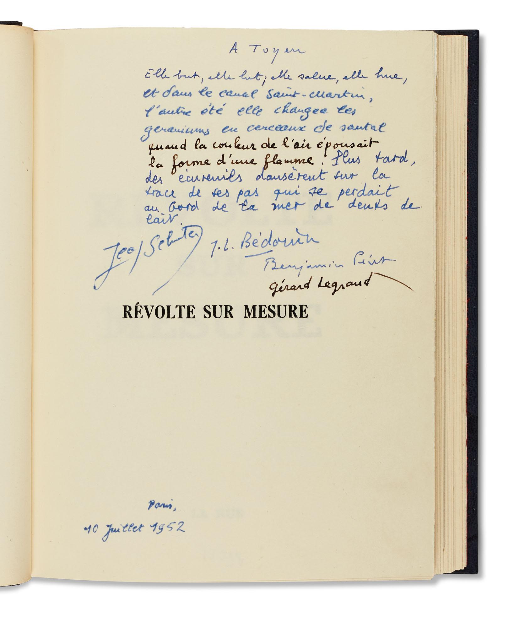 PÉRET, Benjamin, Jean SCHUSTER, TOYEN, et autres