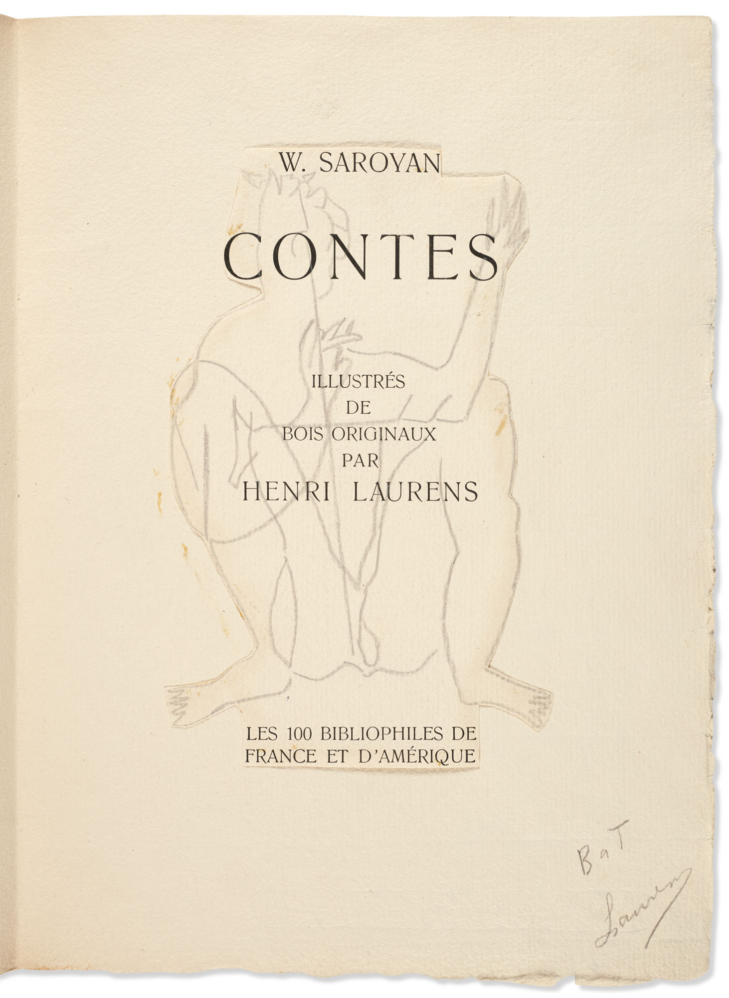 SAROYAN, William, et Henri LAURENS