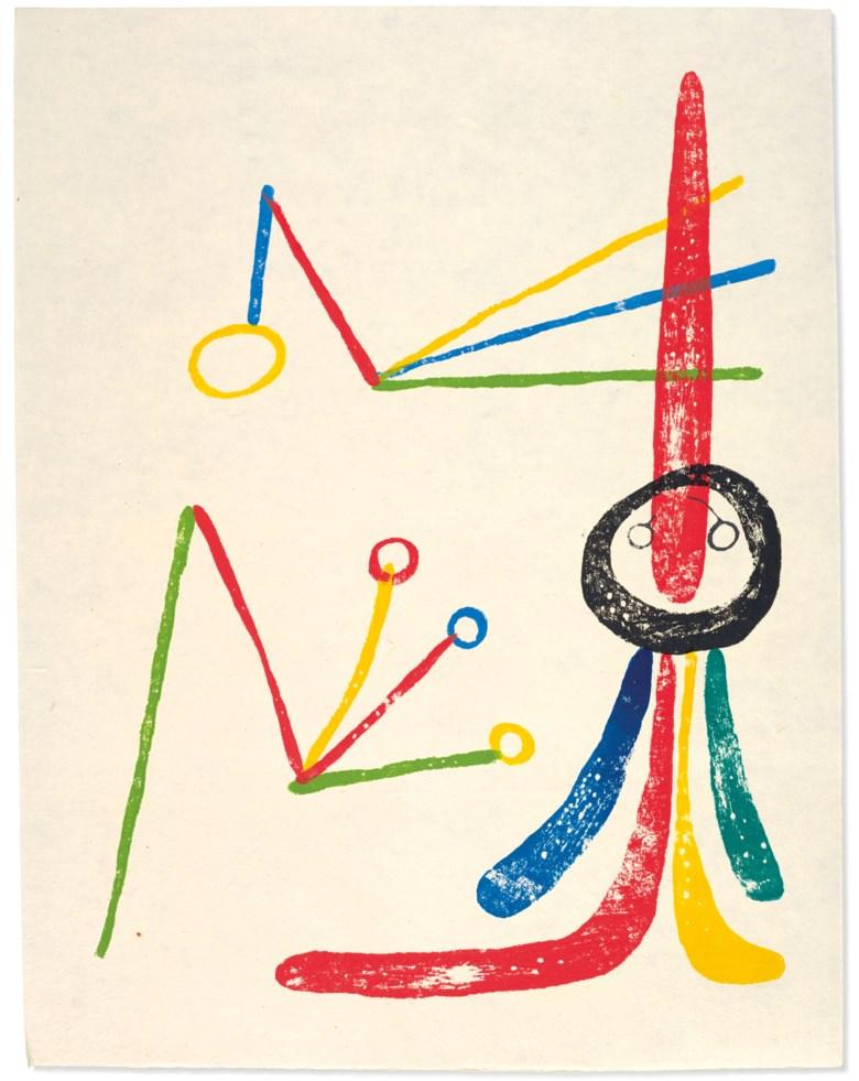 Joan Miró and Paul Eluard,A toute épreuve. Geneva, Gérald Cramer, 1958. Estimate €50,000-70,000. Offered in Paul Destribats une bibliothèque des Avant-gardes, partie III, 2-4 February 2021 at Christie's in Paris