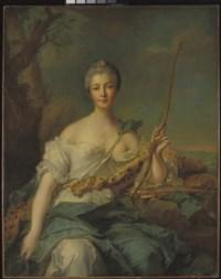 Portrait de Jeanne-Antoinette Poisson (1722-1764), marquise de Pompadour, en Diane