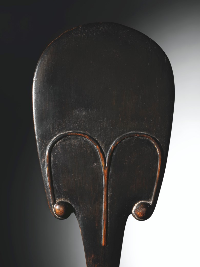 Rapa dance paddle, Easter Island. Height 76 cm (30 in). Estimate €700,000-1,000,000. Offered in Collection Michel Périnet on 23 June 2021 at Christie's in Paris