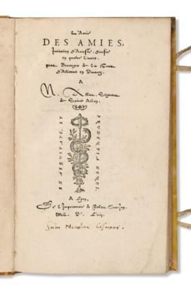 LA TOUR, Béranger de (vers 1515-vers 1559) L'Amie des amies,