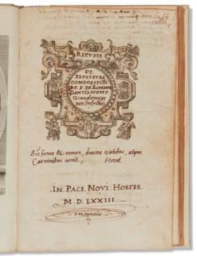 RONSARD, Pierre de (1524-1585) Recueil de plusieurs composit