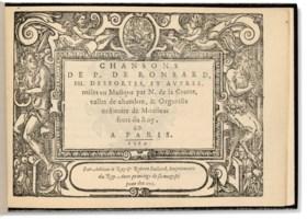 [RONSARD, Pierre de (1524-1585) & autres] – Nicolas de LA GR