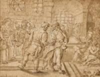 Le Christ délivrant les prisonniers (sixième oeuvre de Miséricorde, Matthieu, 25, 36)