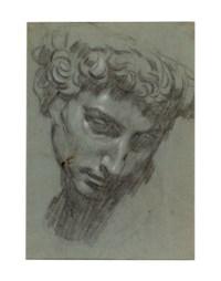 Portrait de Julien de Médicis, d'après Michel-Ange (recto) ; Tête d'un homme, d'après l'antique (verso)