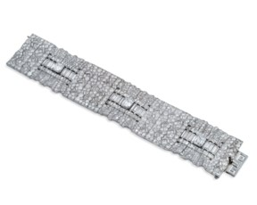 Superb art deco diamond bracel