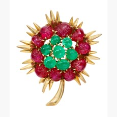 CHAUMET EMERALD AND RUBY RETRO