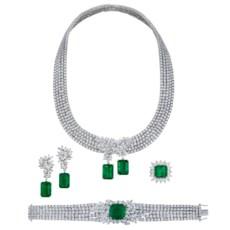 Emerald And Diamond Necklace,