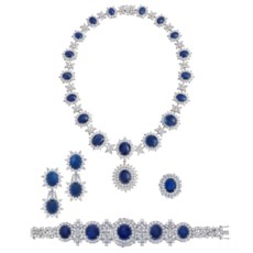 Sapphire And Diamond Necklace,