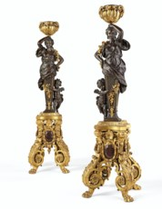 A LARGE PAIR OF FRENCH ORMOLU,