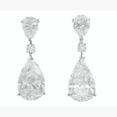 DIAMOND EARRINGS, MOUSSAIEFF
