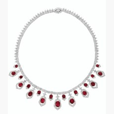 RUBY AND DIAMOND NECKLACE, CAR