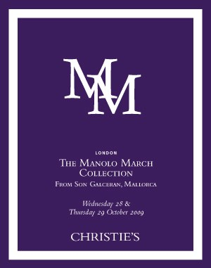The Manolo March Collection Fr auction at Christies
