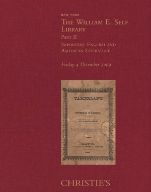 The William E. Self Library, I auction at Christies