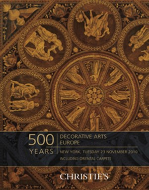 500 Years: Decorative Arts Eur auction at Christies