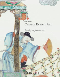 Chinese Export Art auction at Christies