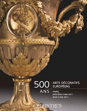 500 Ans: Arts Décoratifs Europ auction at Christies