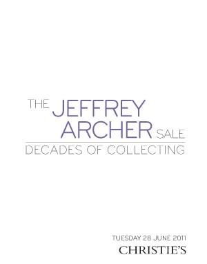 The Jeffrey Archer Sale: Decad auction at Christies