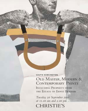 Old Master, Modern and Contemp auction at Christies