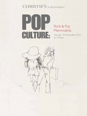 Pop Culture: Rock and Pop Memo auction at Christies