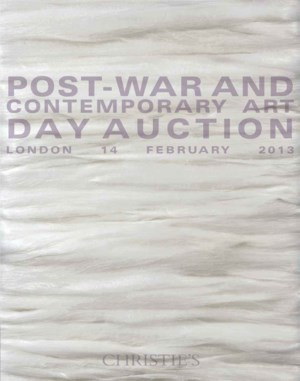 Post-War and Contemporary Art  auction at Christies