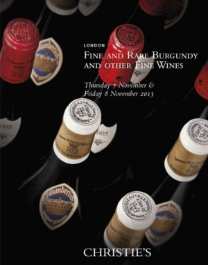 Fine and Rare Burgundy and Oth auction at Christies