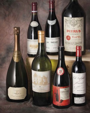 Fine and Rare Wines Featuring  auction at Christies
