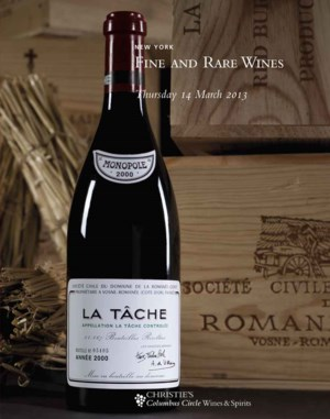 Fine and Rare Wine auction at Christies
