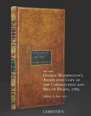 George Washington's Annotated  auction at Christies