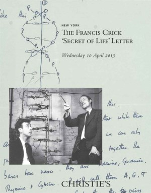 The Francis Crick 'Secret of L auction at Christies