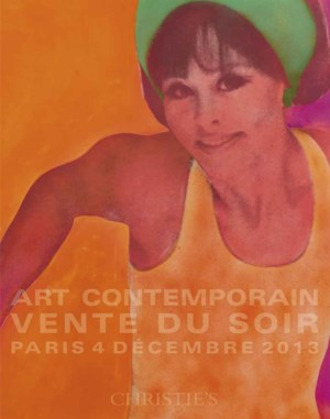 Art contemporain auction at Christies