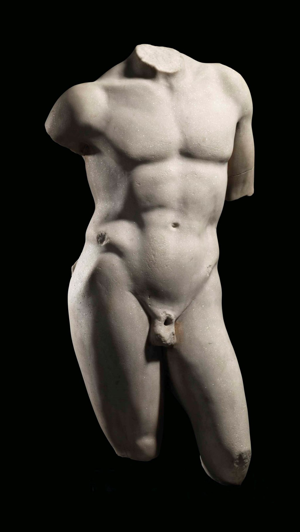 A ROMAN MARBLE TORSO OF NARCISSUS