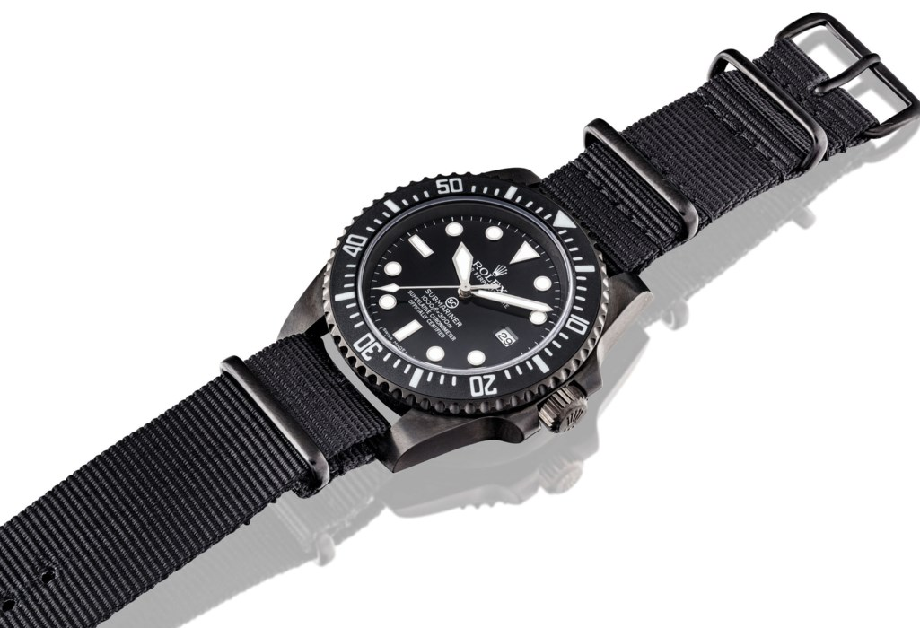 SPECIAL FORCES ISSUE. A PVD-COATED STAINLESS STEEL AUTOMATIC WRISTWATCH WITH SWEEP CENTRE SECONDS AND DATE