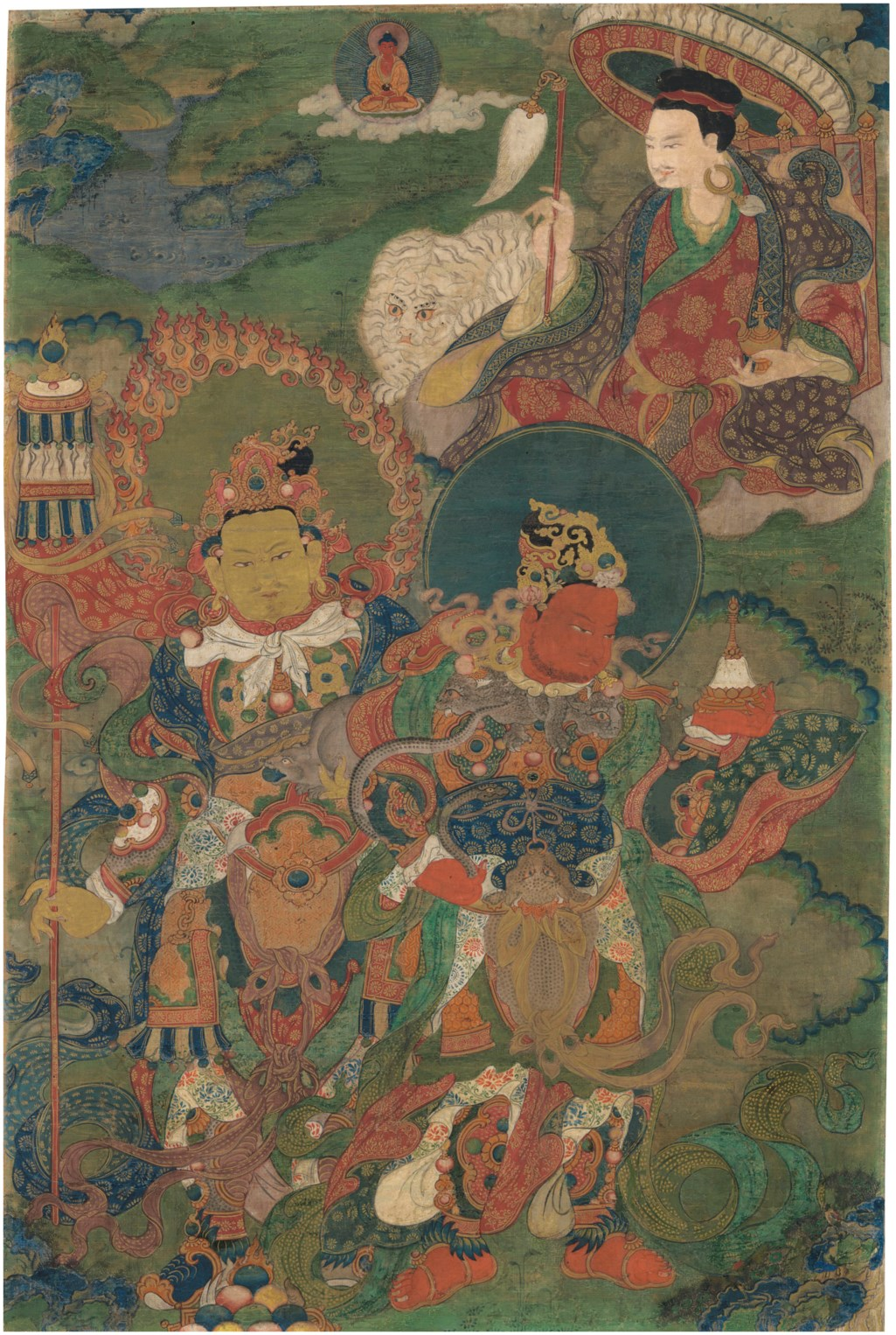 A THANGKA OF DHARMATALA